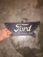 Ford Motor Sign Plaque Vintage Style Cast Iron Metal John Deere Sinclair Case Vg