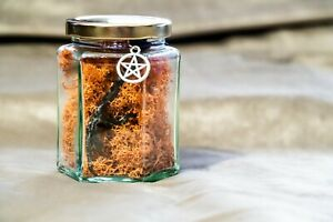 Crow's Foot in a Glass Jar Display for Altar, Spiritual Growth, Yorkshire Witch,