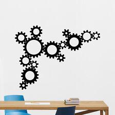 Gears Wall Decal Wheels Cogwheel Vinyl Sticker Garage Art Decor Mural 277xxx