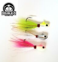 OO Tackle Co. (3pk, 1oz) Beaucoup Bucktail ! Fishing Lure Hair Jig bass striper