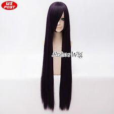 Sailor Moon Sailor Mars Mixed Dark Purple Straight Hair 100CM Women Cosplay Wig
