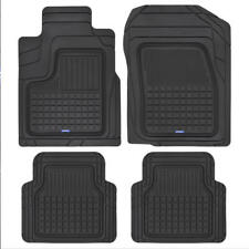 Black ACDelco Heavy Duty Rubber Car Floor Mats for All Weather Front & Rear Set