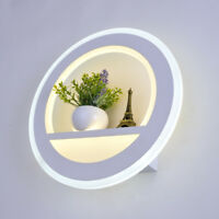 Indoor 18W LED Wall Fixture Light Fixture Acrylic Circle Lamp Flower+Tower Decor