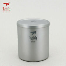 Keith Titanium Ti3301 Double-Wall Mug - 7.4 fl oz (Shipped from California, US)