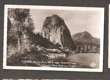 Vtg Postcard Columbia River Highway Oregon Rppc Or Beacon Rock Sawyer Photos