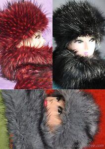 Faux Fur Hat & Shawl Scarf Ladies Autumn Winter Fluffy Stylish Specil Xmas offer