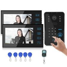 RFID 7'' Video Sprechanlage Türsprechanlage Klingelanlage Kamera 2 Familienhaus