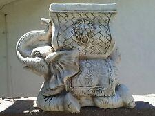 concrete  plaster mold  elephant planter latex and fiberglass