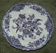 "GORGEOUS ""BRISTOL"" CROWN DUCAL DINNER PLATE! MULBERRY PURPLE ENGLAND"