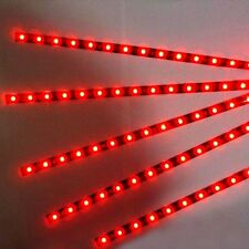 5pcs 30cm 12V 15LED Strip Light Flexible Waterproof  Red For Car Motor Vehicle B