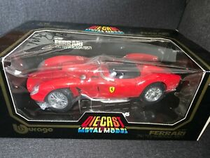 Diecast Red 1957 Burago 1:18 Scale Model Car 3007 Ferrari 250 Testa Rossa