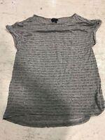 NWOT Calvin Klein Women's Short Sleeve Shirt - Grey - Small