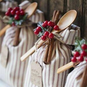 100Pcs Artificial Red Pick Holly Berry Christmas Home Wedding Decor Wreath Xmas