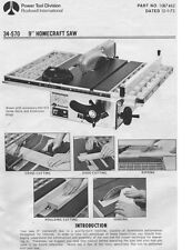 "Delta Rockwell 34-570 9"" Homecraft Saw Instructions"