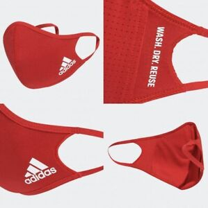 One (1) Adidas Face Mask Cover Authentic Adult Size Medium/Large Red