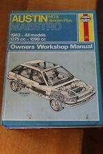 Austin Maestro MG & Vanden Plas 1983 all models 1275cc 1598cc Haynes Manual 922