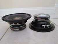 "NEW (2) 8"" Woofer Speakers.Replacement.8 ohm.eight inch drivers.Subwoofer Pair"