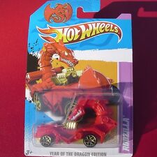 GOLD RIMS Red RODZILLA Year Of The DRAGON MOVING HEAD New SEALED Pack ZODIAC CAR