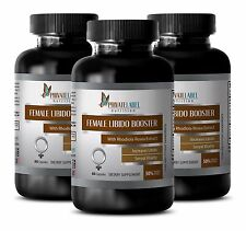 Female Libido Booster. Women's Sexual Vitality. Natural Supplement (3 Bottles)WS