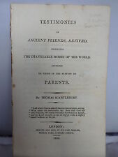 1810 Testimonies of Ancient Friends - Changeable Modes of the World -Scantlebury