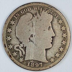 1897-O United States Barber Half-Dollar 50c - Scratched