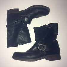 Women's Frye Veronica Slouch Short Boots Black Leather Sz 7.5 B