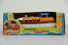 Vintage Ahi California Cruiser Battery Powered Boat Toy In Box Works Nautical