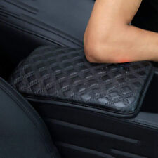 Universal Black Car Armrest Cover Center Console Box PU Leather Cushion Covers #