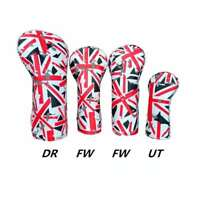 4X Union Jack Golf Headcover Wood Cover Driver Fairway Wood Head Cover 1 3 5 UT