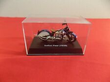 NEW-RAY 1939 INDIAN FOUR DIECAST MOTORCYCLE W / DISPLAY CASE