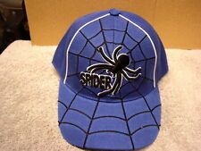 Spider In A Web Baseball Cap Hat #2 ( Blue )