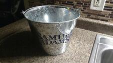 SAMUEL ADAMS Galvanized Beer ICE Bucket 1.5 Gallon HandleFor Bottles Cans Cooler