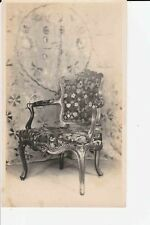 Antique Original Louis XV Armchair Green Carved Wood c1915 Furniture Photograph