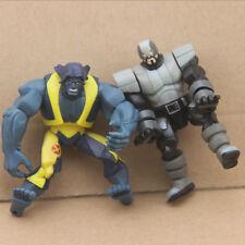 "Lot2Pcs Marvel Legends Beast Solider Wolverine & The X-Men 4"" Figure hasbro toys"