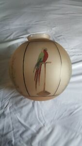 Art Deco glass globe Parrot