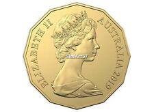 **2019 Australian Gold Plated  50 cent  UNC **