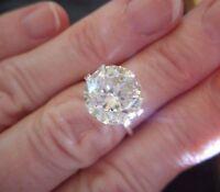 Unique 2.00 ct 6.5 MM White Round Cut Loose Moissanite Diamond VVS1/HI