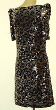 MIMOSA SilverSequinBlkNetParty Size8 NWoT