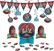 Super Bowl Decorating Supplies Swirls Banner Table Decorating Kit