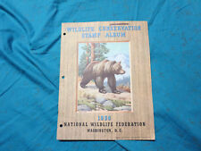 1956 Wildlife Conservation Stamp Album Complete W/Stamps, Grizzly Bear  (shelf)