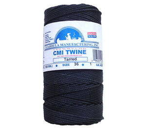 Catahoula No 36 Tarred Twisted Bank Line 1 lb Spool 491 ft Nylon AA Seine Twine