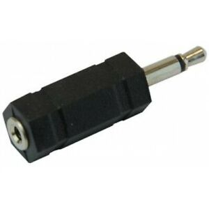 Quality 2.5 mm Mono Jack Socket To 3.5 mm Mono Jack Plug Adaptor - 100791.