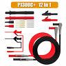 12PCS/SET Test Lead Probe Cable Pen Alligator Clip For Digital Multimeter Meter