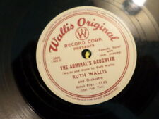WALLIS ORIGINAL 78 RECORD/RUTH WALLIS/ADMIRAL'S DAUGHTER/SWEATER GIRL / VG