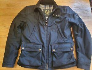 Belstaff Men's Kepple Gate Motorcycle Jacket (Wax, Black, L), incl. armour