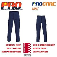 1 x Cargo pants 100% Cotton Drill Heavy Duty 8 pockets Safety Work 311gsm