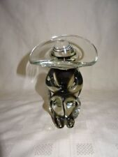 "1970's Hand Made Murano Glass 6.5"" Mexican Figure In Sombrero"
