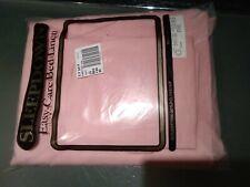 Double pink sheet set Vintage  PolyCotton  2Sheets 2 pillowslips VW Campervan