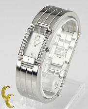 Michel Herbelin Stainless Steel Quartz Watch w/ Diamond Bezel Gift for Her