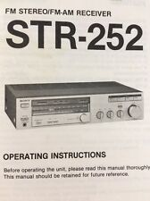 Sony STR-252 Stereo Receiver Original Owners Manual 13 Pages str252